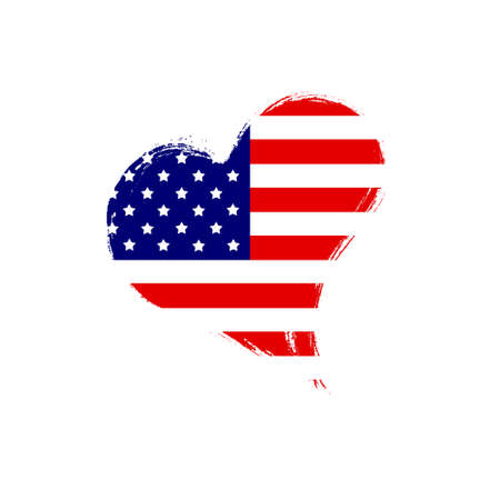 Isolated USA heart. Stock Photo - 13318868
