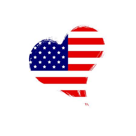 Isolated USA heart. Stock Photo - 13318868