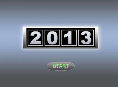 2013 start. Stock Photo - 13321409
