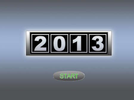 the turn of the year: 2013 start. Stock Photo