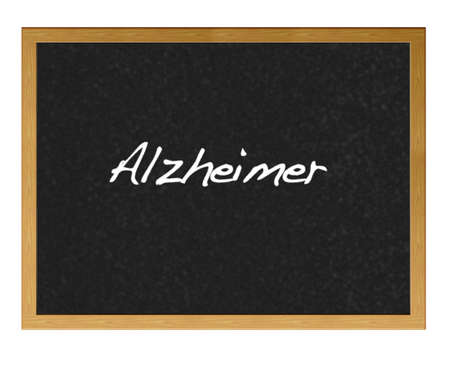 Isolated blackboard with alzheimer.