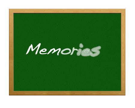 Isolated blackboard with memories. Stock Photo - 13329181