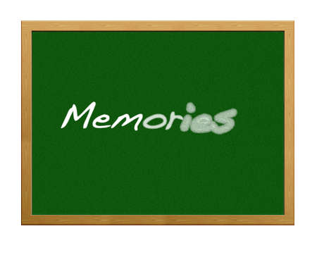 forgetfulness: Isolated blackboard with memories.