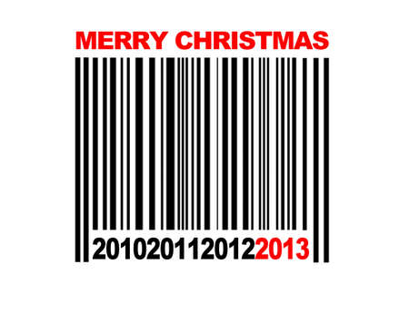 Barcode Merry Christmas 2013. photo