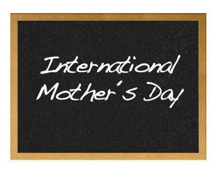 Isolated blackboard with Mother day  Stock Photo - 13357568