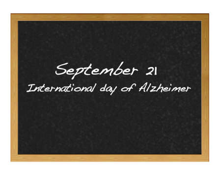 forgetful: Isolated blackboard with alzheimer