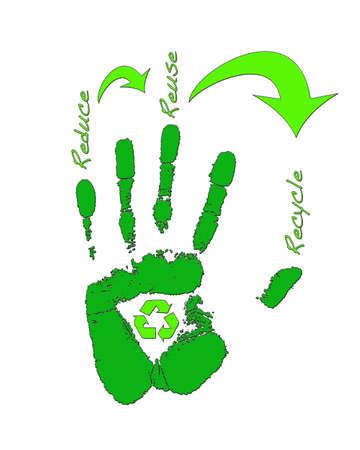 reduce reutiliza recicla: Reducir, Reutilizar, Reciclar. Foto de archivo