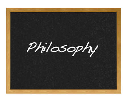 Isolated blackboard with Philosophy. Stock Photo