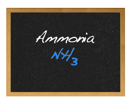 Isolated blackboard with Ammonia. photo