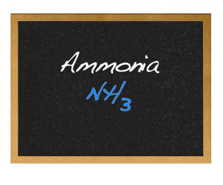 hydroxide: Isolated blackboard with Ammonia.