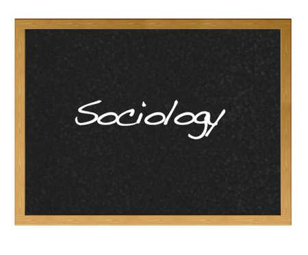 sociologia: Aislado con pizarra de Sociolog�a.