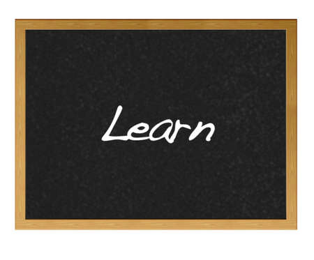 Isolated blackboard with learn. Stock Photo - 13423611