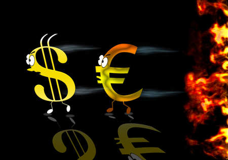Euro and Dollar sign. Stock Photo - 13423642