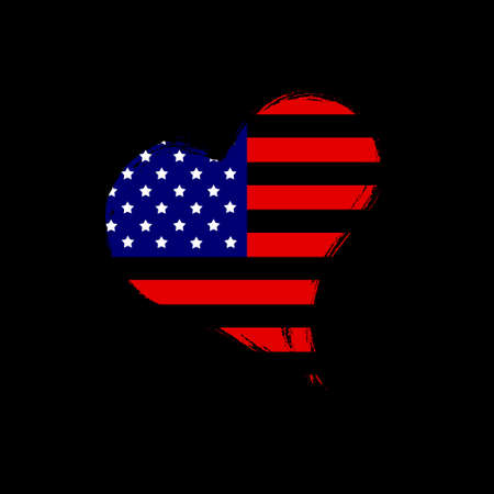 Isolated USA heart. Stock Photo - 13482468