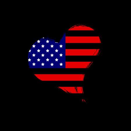 Isolated USA heart. Stock Photo - 13482468