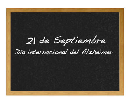 Isolated blackboard with alzheimer Stock Photo - 13488987