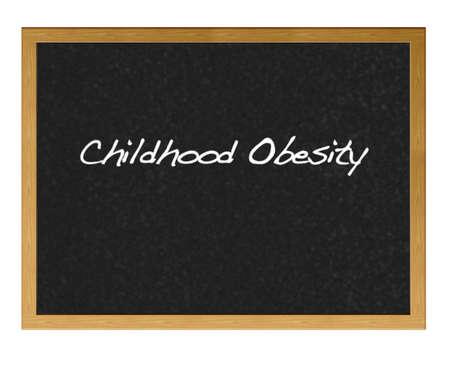 obesidad infantil: Pizarra aislada con la obesidad infantil.