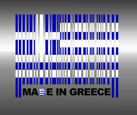 Barcode Greece. Stock Photo - 13653948