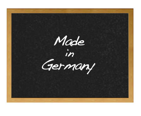 Isolated blackboard with Made in Germany. photo