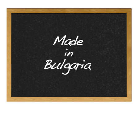 Isolated blackboard with Made in Bulgaria. Stock Photo