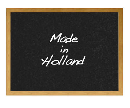 Isolated blackboard with Made in Holland. Stock Photo - 13727784