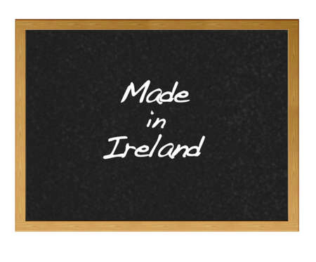 Isolated blackboard with Made in Ireland. Stock Photo - 13727781