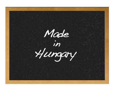 Isolated blackboard with Made in Hungary. Stock Photo - 13727789