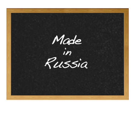 made in russia: Isolated blackboard with Made in Russia  Stock Photo