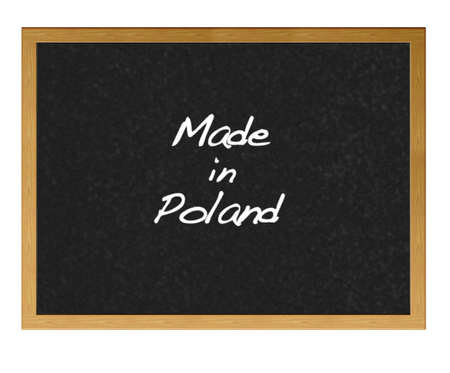 Isolated blackboard with Made in Poland  photo