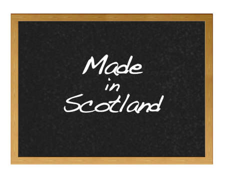 Isolated blackboard with Made in Scotland. Stock Photo - 13734554