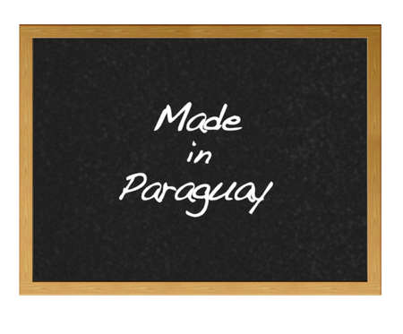 Isolated blackboard with Made in Paraguay. Stock Photo - 13748820