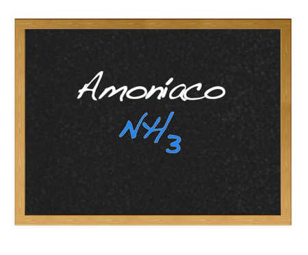 ammonia: Pizarra aislada con amon�aco. Foto de archivo