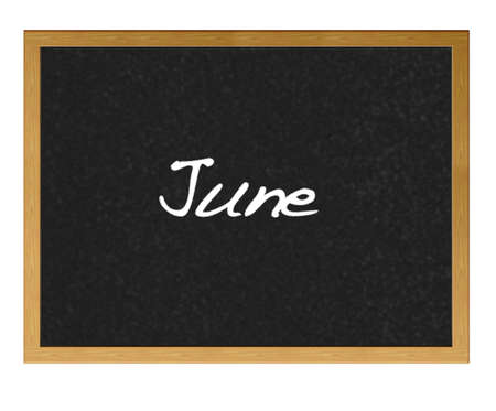 Isolated blackboard with June.