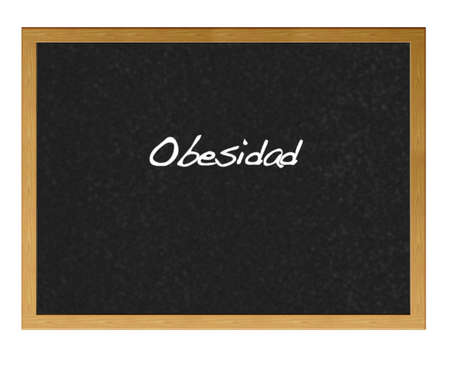 Isolated blackboard with  obesity. Stock Photo - 13798684