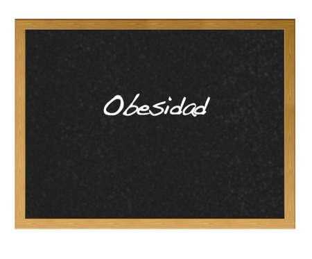 Isolated blackboard with  obesity. photo