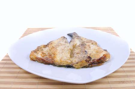 gilthead: Baked gilthead bream. Stock Photo