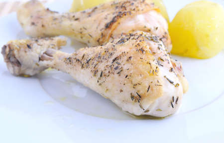 baked chicken: Shanks baked chicken.