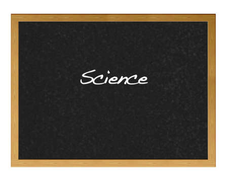 Isolated blackboard with Science.