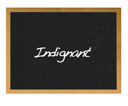 Isolated blackboard with indignant. Stock Photo