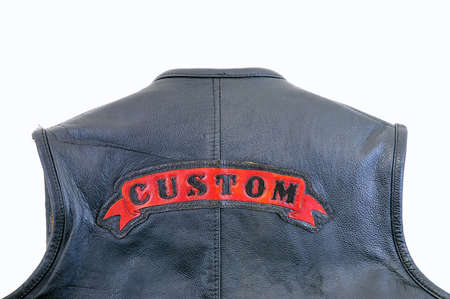 Isolated biker jacket. photo