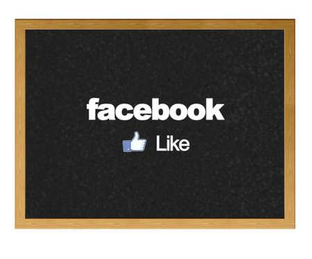 MADRID, SPAIN - JUNE 12: Facebook logo,  the biggest social network website on a blackboard at school on June 12, 2012 in Madrid, Spain.