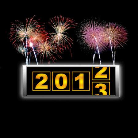 2013 fuochi d'artificio iniziare.