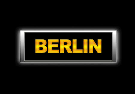 Illuminated sign with Berlin. Stock Photo - 14017352
