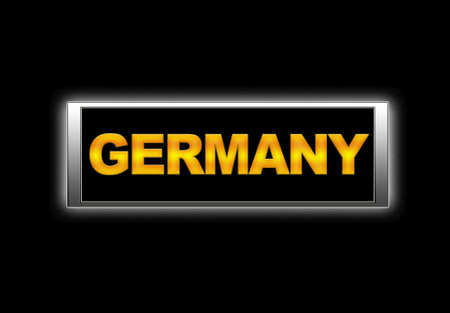 Illuminated sign with Germany. Stock Photo - 14067641