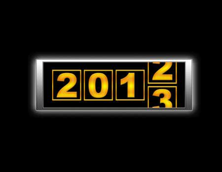 2013 end. Stock Photo - 14067670
