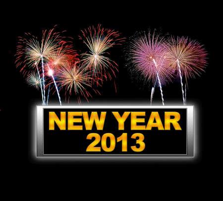Illuminated sign with New year 2013. Stock Photo - 14067730