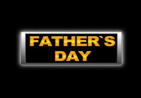 Illuminated sign with Father`s day. photo