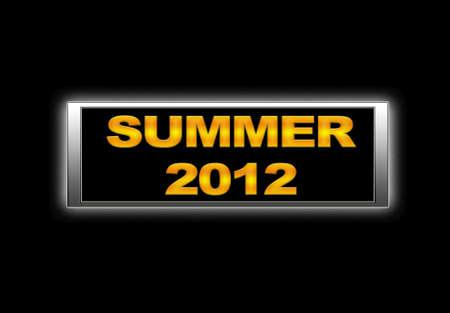 Illuminated sign with Summer 2012. Stock Photo - 14165271
