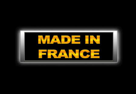 made in france: Illuminated sign with Made in France.