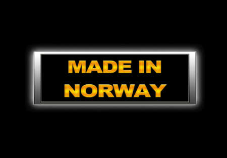 Illuminated sign with Made in Norway. photo